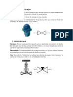 Caracteristicas de las valvulas