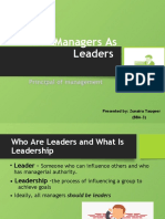 Managers As Leaders