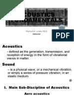 ACOUSTICS-FUNDAMENTALS