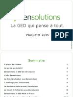 Plaquette Zensolutions 2015