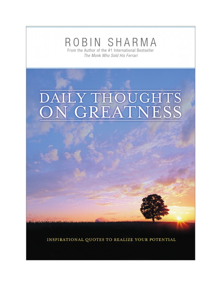 Robin Sharma Dailythoughts Ebook Leadership Meaning Of Life