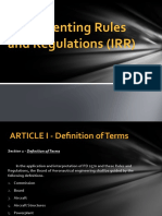Implementing Rules and Regulations (IRR)