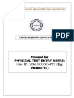 Gangman- Physical Test -PTE User Manual
