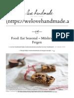 Eat Seasonal - Müsliriegel mit Feigen
