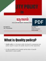 raymond-quality