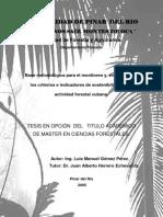Base metodológica para el monitoreo y evaluación de los criterios e indicadores de sostenibilidad en la actividad forestal