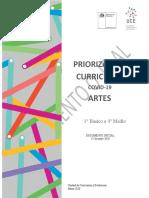 priorización curricular artes
