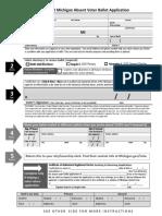 Michigan 2020 Absentee Ballot application