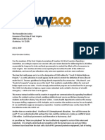 WVACo Letter to Gov Justice - CARES Act Allocations