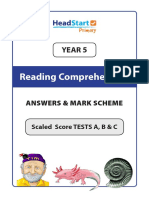 ReadingComprehension-Year5-AnswersandMarkScheme-COLOUR-Sample