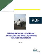 07 Experiencia Mexicana en el uso de bases estabilizadas y de suelo cemento - Marco Avelino Inzunza