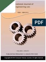 International Journal of Engineering, (IJE) Volume (4)