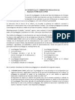 DEFINICION DE TENDENCIAS Y CORRIENTES PEDAGÓGICAS