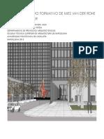 El Neoplasticismo Formativo de Mies Van Der Rohe El Federal Center