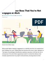 How to Tell Your Boss That You're Not Engaged at Work