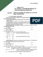 IV.Analiza vibratiilor liniare la sisteme materiale cu numar finit de grade de libertate