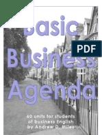 Basic Business Agenda