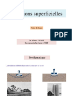 Fondation superficielle M 2