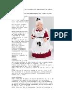Traje de ganchillo de la muñeca del ambientador de señora Claus