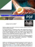 1. ORIGEN Y EVOLUCION DE LA VIDA