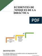 ANTECEDENTES DE LOS ENFOQUES DE LA DIDÁCTICA