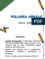 POLUAREA AERULUI - 2020