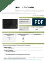 LCE3010SB Environmental Declaration
