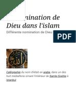 Dénomination de Dieu dans l'islam — Wikipédia.pdf