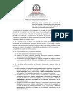 Regimento de Bolsas do PPGE