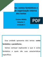 Unidade 13 Dois Estudos Contos Fantásticos e Recursos de Organização Interna Dos Textos