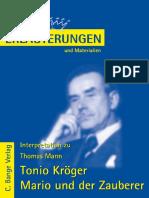 Erläuterungen Zu Thomas Mann, Tonio Kröger, Mario Und Der Zauberer by Thomas Mann, Dr. Wilhelm Große (z-lib.org).pdf