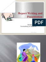 Report Writing and Presentation