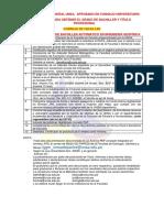 REQUISITOS PARA OBTENER EL GRADO DE BACHILLER Y TITULO PROFESIONAL DE LA FACULTAD DE GEOLOGIA, GEOFISICA Y MINAS (1)