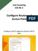 Final Coaching Router  AP Configuring.pptx
