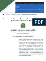 DIÁRIO OFICIAL DA UNIÃO Publicado em