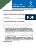 FORTALECIENDO LA AUTONOMIA EN CASA