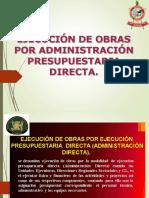2.2 EJECUCION DE OBRAS POR ADMINISTRACION DIRECTA