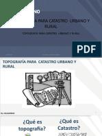 CLASE 1 CATASTRO URBANO - CLASE 01