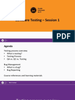 Testing Session 1 - Bug Management