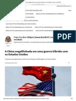 A China Engalfinhada Em Uma Guerra Híbrida Com Os Estados Unidos - Brasil 247