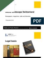 20101220 Media Landscape in Switzerland