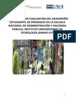 enahp. REGLAMENTO EVALUACION del Desempeño Estudial. (1)