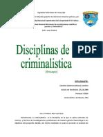 Disciplinas de la criminalistica ensayo