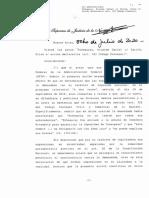 Corte Suprema sobre Echegaray/Carrió