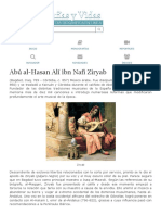 Biografia de Abú al-Hasan Alí ibn Nafi Ziryab