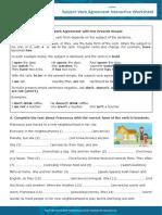 Subject-Verb Agreement Interactive Worksheet