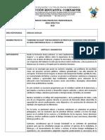 Proyecto Transversal CIENCIAS SOCIALES Gobierno Escolar 2019