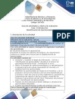Guía de Actividades y rubrica de evaluación - Fase 1 - Introducción al curso  Identificación de oportunidades