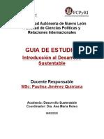 Guía - Introducción al desarrollo  sustentable