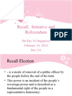 Recall, initiative and Referendum